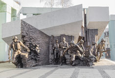 Monument to the Heroes of the Warsaw Uprising Stock Images