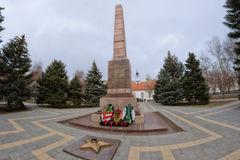 Monument to heroes who died a heroic death in  defense of Stalin Stock Images