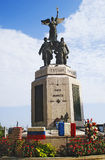 Monument to heroes of World War I, located opposite to the city hall view from square Cornut-Gentille Stock Photo