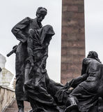 Monument to the Heroic Defenders of Leningrad Stock Photos