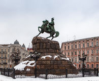 Monument to Hetman Bogdan Khmelnitsky. Kiev Stock Photos