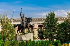 Monument to hetman Petro Konashevych-Sahaidachny at Kontraktova Square in Kyiv. Ukraine royalty free stock image