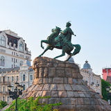 Monument to hetman of Ukraine Bogdan Khmelnitsky Stock Photos