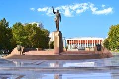 Monument to Heydar Aliyev in the Heydar Aliyev Park stock photography