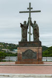 Monument to the holy apostles Peter and Paul in the city of Petropavlovsk-Kamchatsky. Royalty Free Stock Photo