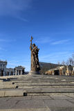 Monument to Holy Prince Vladimir the Great on Borovitskaya Square in Moscow near the Kremlin, Russia. Stock Photo