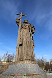 Monument to Holy Prince Vladimir the Great on Borovitskaya Square in Moscow near the Kremlin, Russia. Stock Images