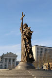 Monument to Holy Prince Vladimir the Great on Borovitskaya Square in Moscow near the Kremlin, Russia. Stock Photography