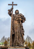 Monument to Holy Prince Vladimir the Great in Moscow Stock Images
