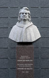 Monument to Honore de Balzac in Berdychiv, Ukraine Stock Photo