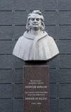 Monument to Honore de Balzac in Berdychiv, Ukraine Stock Photo