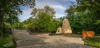 Monument to Honours Afganistan War in Odessa. Ukraine Odessa monument to honours of Soviet soldiers killed in Afghanistan royalty free stock photo