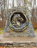Monument to the horse Royalty Free Stock Photos