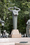 The monument to human vices. Moscow. Fragment of indifference. Royalty Free Stock Photography