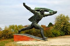 Monument to the Hungarian Socialist Republic Communist Statue at Memento Park Budapest Hungary. Monument to the Hungarian Socialist Republic USSR Communist stock photography