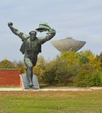 Monument to the Hungarian Socialist Republic 8 Communist Statues at Memento Park Budapest Hungary. USSR Communist soviet style arts and statue. Memento Park, or royalty free stock photography