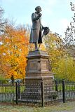 Monument to Immanuel Kant in autumn day. Kaliningrad Stock Photos