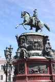 Monument to imperor Nicholas I  in Saint Petersburg, Russia Stock Photos