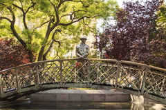 Monument to Imre Nagy, Prime Minister in Budapest, Hungary Stock Photography