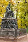 The monument to Ivan Krylov in Summer Garden Stock Images
