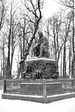 Monument to Ivan Krylov in the Summer Garden. ST.PETERSBURG, RUSSIA - 24 FEBRUARY 2017: Monument to Ivan Krylov in the Summer Garden. Ivan Krylov - Russian Stock Photo