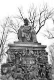 Monument to Ivan Krylov in the Summer Garden. ST.PETERSBURG, RUSSIA - 5 MARCH 2016: Monument to Ivan Krylov in the Summer Garden. Ivan Krylov - Russian writer Royalty Free Stock Photo