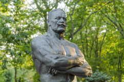 Monument to Ivan Poddubny. In the city of Yeisk, Krasnodar region, Russia, August 15, 2016 Stock Photo