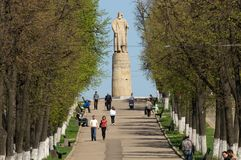 Monument to Ivan Susanin. In Kostroma the golden ring of Russia Royalty Free Stock Image