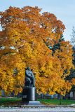 Monument to Ivan Turgenev, great russian writer. Russian Federation, city of Oryol, Central Park stock photo