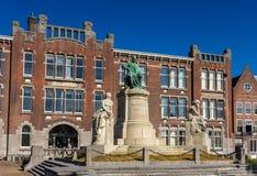 Monument to Jacobus Henricus van 't Hoff in Rotterdam Stock Photo