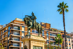 Monument to Jaime el Conquistador in Valencia, Spain Royalty Free Stock Photography