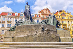 Free Monument To Jan Hus In The Old Town Square In Prague, Czech Republic. Royalty Free Stock Photos - 89650898