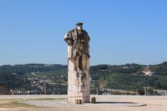 The monument to Joannou III. The monument to the king Joannou III in the Portuguese city of Coimbra royalty free stock photography