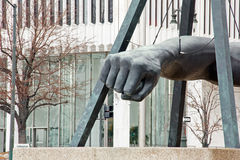 Monument to Joe Louis. In downtown Detroit Michigan Stock Images