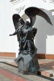 Monument to John Theologian at church, Minsk, Belarus Stock Photography