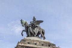 Monument to Kaiser Wilhelm I Emperor William on Deutsches Ecke. German Corner in Koblenz, Germany Stock Photography