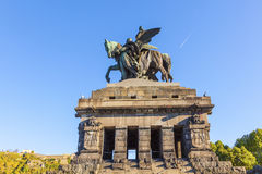 Monument to Kaiser Wilhelm I Royalty Free Stock Photos