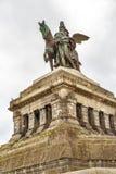 Monument to Kaiser Wilhelm I Emperor William. On Deutsches Ecke German Corner in Koblenz, Germany Stock Photography