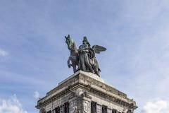 Monument to Kaiser Wilhelm I Emperor William on Deutsches Ecke. German Corner in Koblenz, Germany Stock Photos