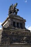 Monument to Kaiser Wilhelm I in Koblenz. Monument to Kaiser Wilhelm I (Emperor William) on Deutsches Ecke (German Corner) in Koblenz, Germany Royalty Free Stock Image