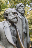 Monument to Karl Marx and Friedrich Engels Stock Photo