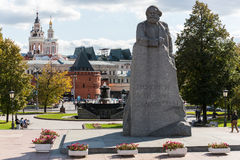 The monument to Karl Marx at Theater Square Stock Image