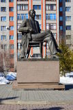 Monument to the Kazakh poet Saken Seifullin in Astana Stock Photography
