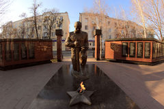 The monument to killed police officers in Makhachkala city Royalty Free Stock Images