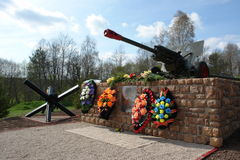 Monument to those killed in the World war 2 soldiers in Russia. Stock Photo