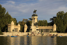The Monument to King Alfonso XII in Buen Retiro Park (El Retiro), Madrid, Spain Royalty Free Stock Images