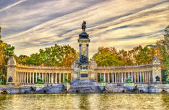 The Monument to King Alfonso XII in Buen Retiro Park - Madrid, Spain Stock Image