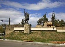 Monument to King  Erekle II (Irakli II) in Telavi. Georgia Stock Image