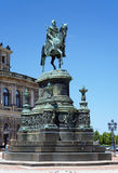 Monument to King John of Saxony in Dresden Royalty Free Stock Photo