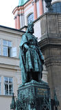 Monument to king Karl IV in Prague Royalty Free Stock Photos
